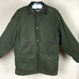 Country Seat Army Green Canvas Shirt Jacket Sz L